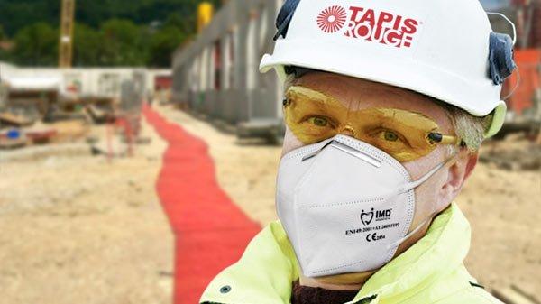 Man wearing respiratory mask